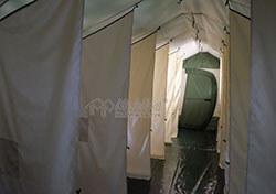Зонирование внутреннего помещения армейской палатки Роснар Р-75