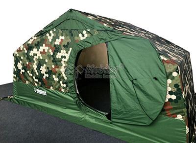 Армейская палатка Роснар Р-34. Сдвоенная распашная дверь. Дверь внутреннего тента открыта