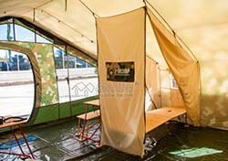 Интерьер армейской палатки Роснар Р-75 со съемным фасадом