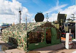 Армейская палатка Роснар Р-75 в составе экспозиции форума Армия-2016