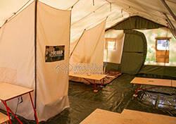 Интерьер армейской палатки Роснар Р-75