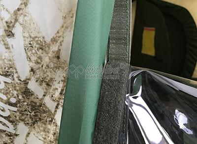 Съемное окно, которое можно заменить на москитную сетку или тканевую заглушку. Армейская палатка Роснар Р-34