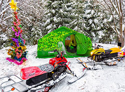 Армейская отапливаемая палатка Роснар Р-34 для комфортного проживания