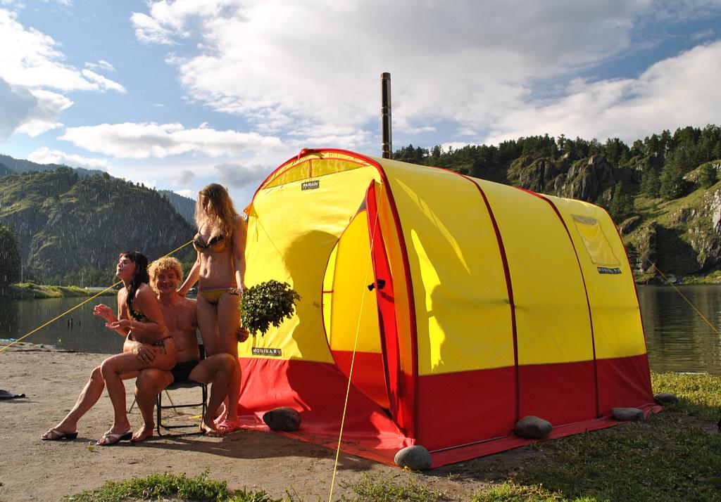 Палатка своими руками с печкой