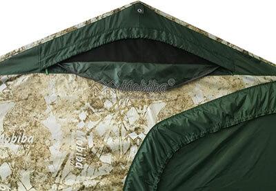 Армейская палатка Роснар Р-34. Открытое вентиляционное окно
