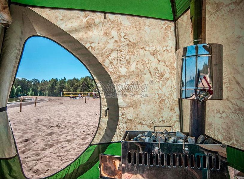 Мобильная баня Мобиба МБ-10А на пляже